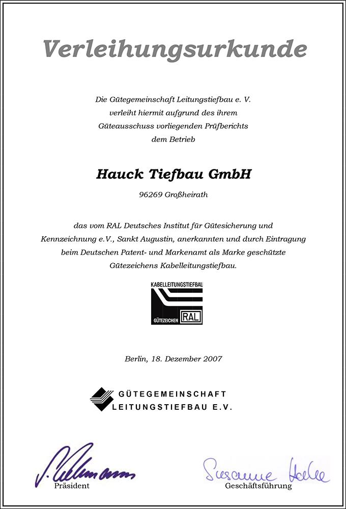 Hauck Erstprüfung 2007