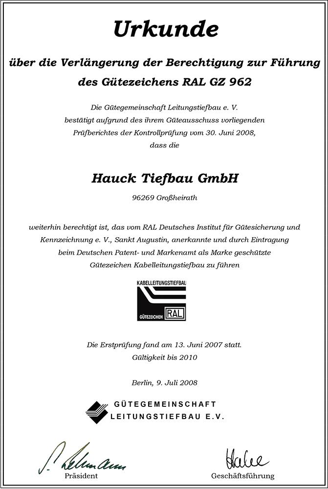 Hauck Verlängerung 2008